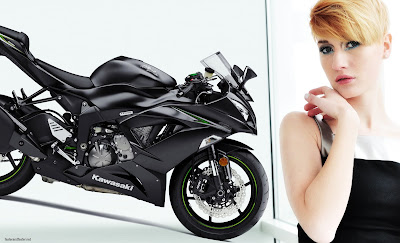 2016 Kawasaki ZX-6R with girl hd image