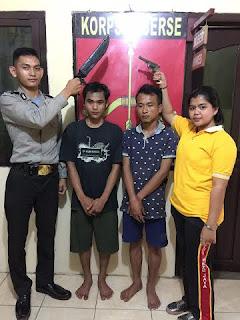 Bawa Senpi dan Sajam, Dua Pemuda Diamankan Polisi