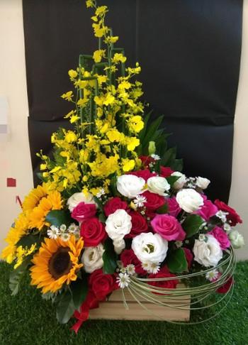 Giỏ hoa sinh nhật sang trọng