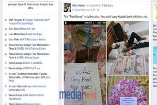 Tersangka Rush Money Pamerkan Uang SPP Siswa di Akun Faceboknya.