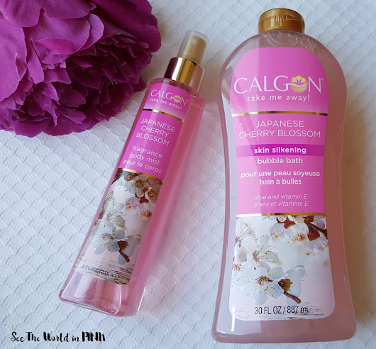 Skincare Sunday - Cherry Blossom Loves with Bodycology and Calgon!