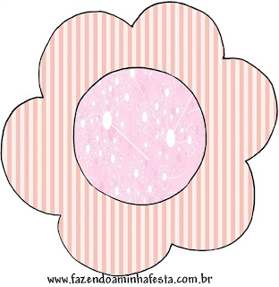 Art in Pink Quinceañera party Free Printable Cupcake Wrappers and Toppers