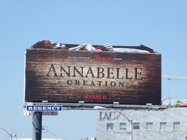 Annabelle Creation extension cutout billboard