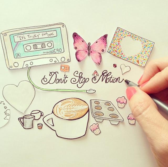 Green Pear Diaries, dibujo, ilustración, animación, stop motion, Rachel Ryle, Instagram
