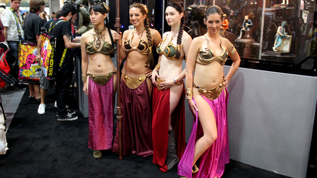princess leia cosplay trio