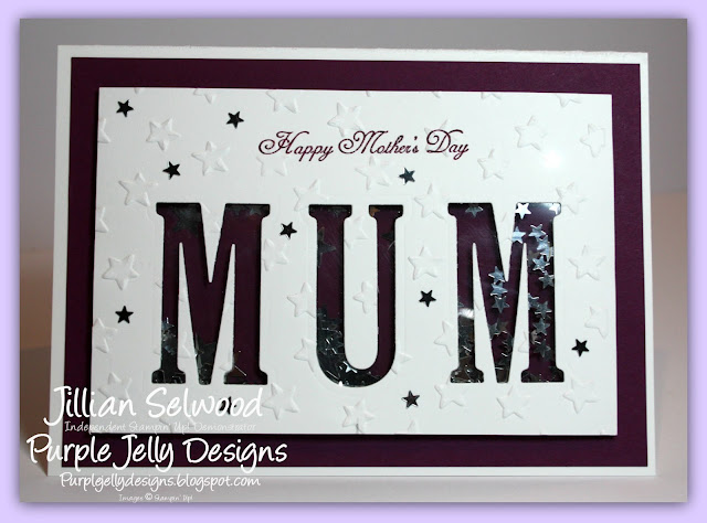 Mother's Day Card, Rich Razzleberry, Large letters framelits