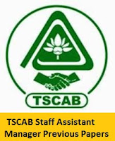 TSCAB Staff Assistant Manager Previous Papers