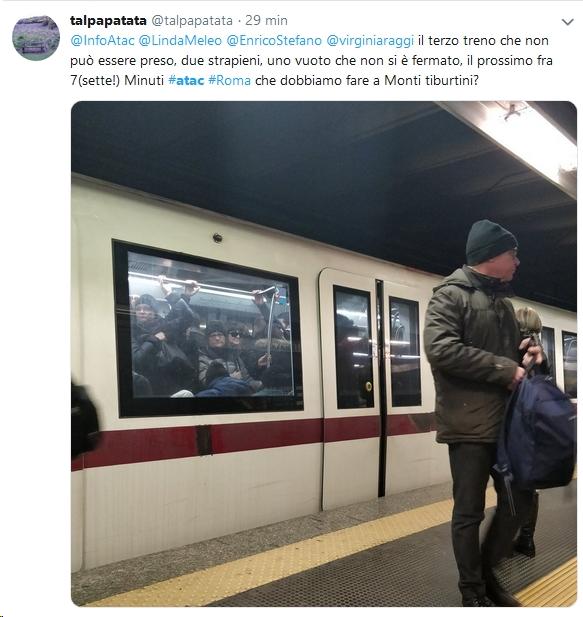 Situazione Trasporto Pubblico Roma martedì 26 febbraio