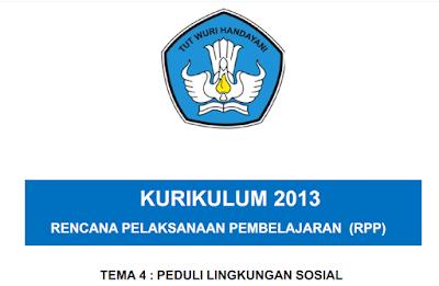 RPP Kelas 3 Tema 4 Peduli Lingkungan Sosial