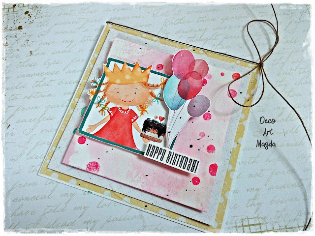 Urodzinowa kartka dla dziewczynki