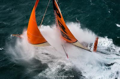 PRB de Vincent Riou dans la tempête avant le Vendée Globe.