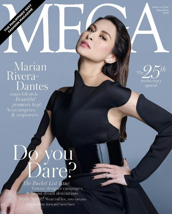 Marian Rivera on the cover of Mega Magazine's 25th anniversary issue