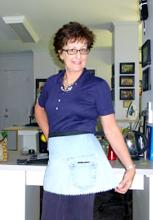 A Repurposed Jeans Apron