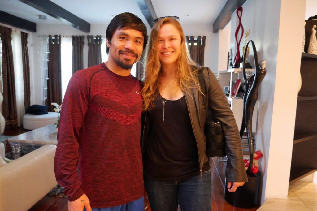 Manny Pacquiao and Ronda Rousey