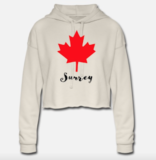 Maple Leaf Surrey BC  Women's cropped hoody