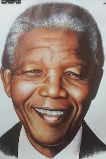 رسم لنيلسون مانديلا