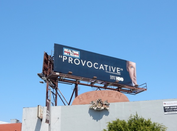 Bill Maher Provocative 2015 Emmy billboard