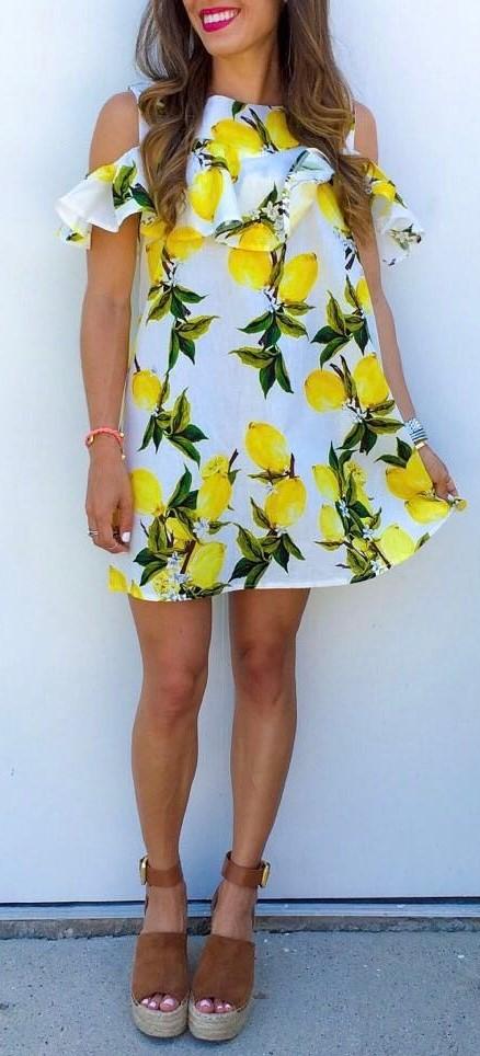 fashionable printed dress