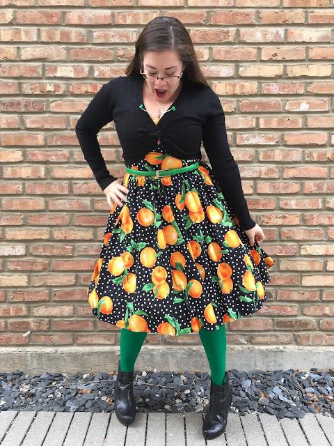 bernie dexter orange print dress