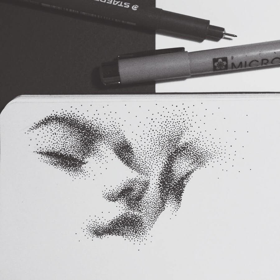02-Intimate-Moment-Eric-Wang-Stippling-Drawings-www-designstack-co