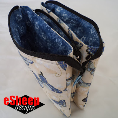 5 Pocket Zippered Pouch crafted by eSheep Designs