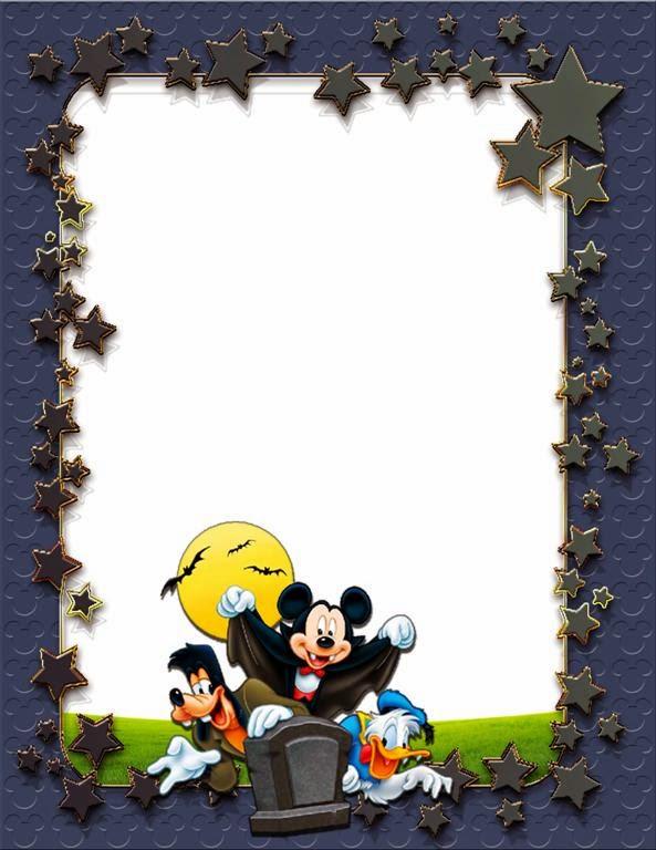 Marco De Halloween Con Personajes De Disney