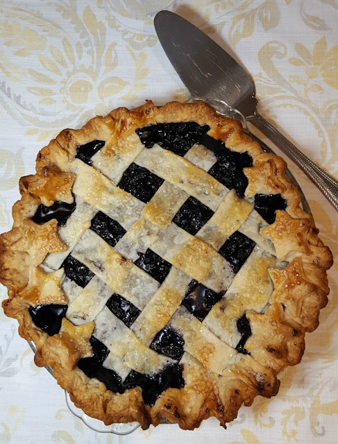 A Baked Blueberry Pie
