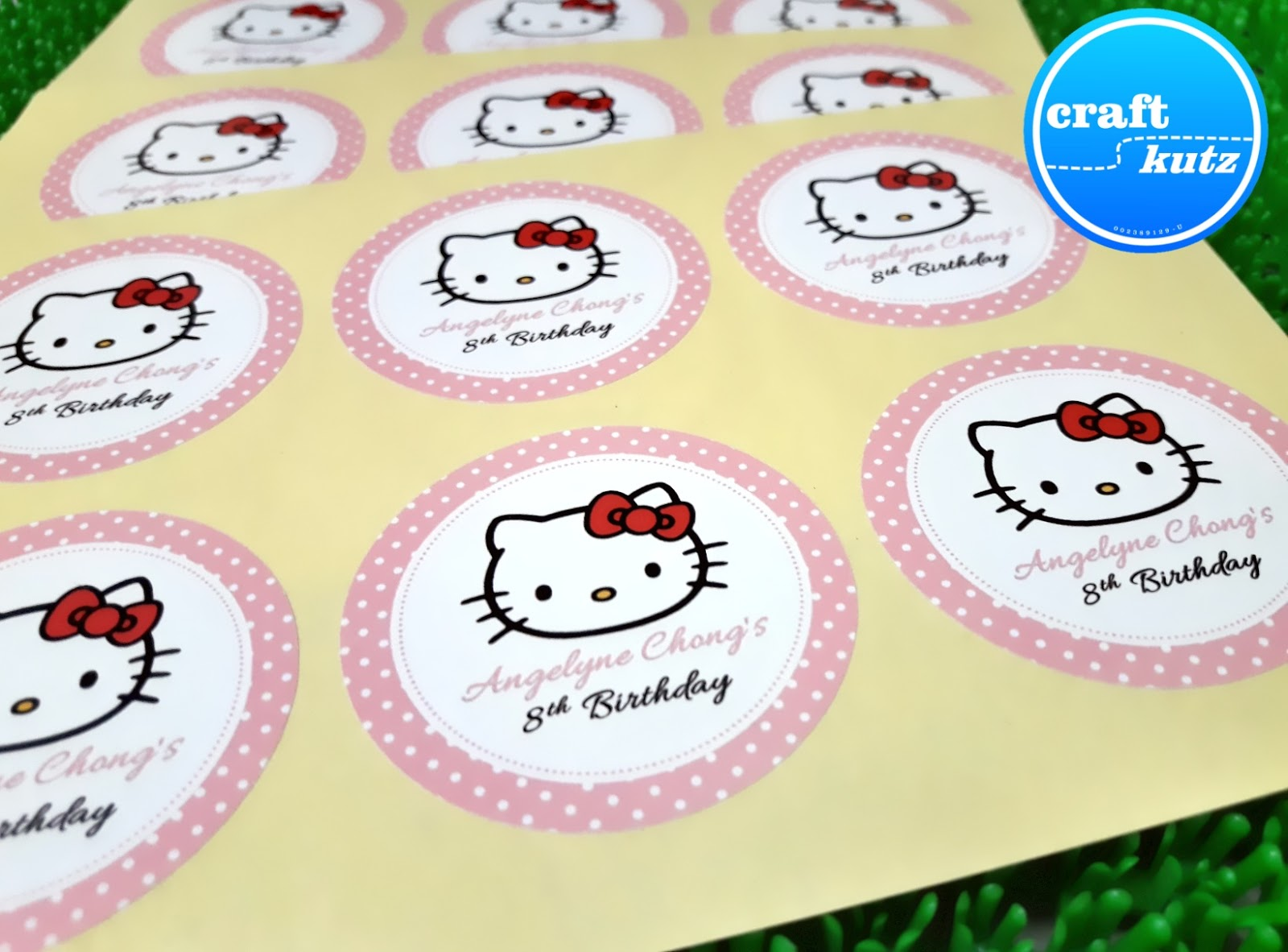 hello kitty birthday theme. ~ craft kutz