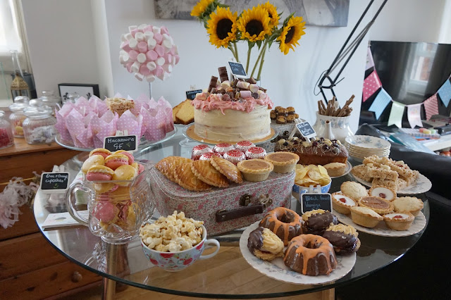 selection of cakes on table