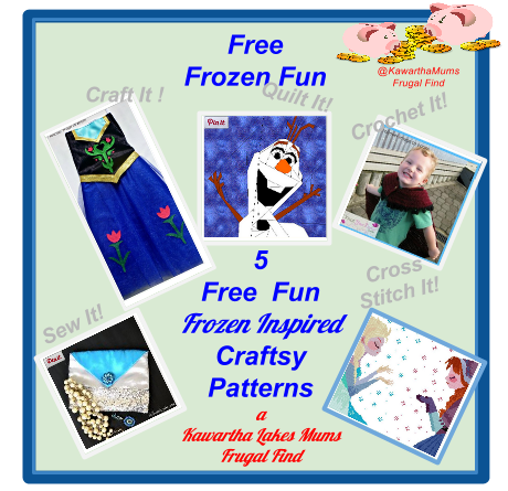 Kawartha Lakes Mums Frugal Find 5 Free Frozen Inspired Craftsy Patterns Quilt, Crochet,Cross Stitch,Sew,Craft,Crochet