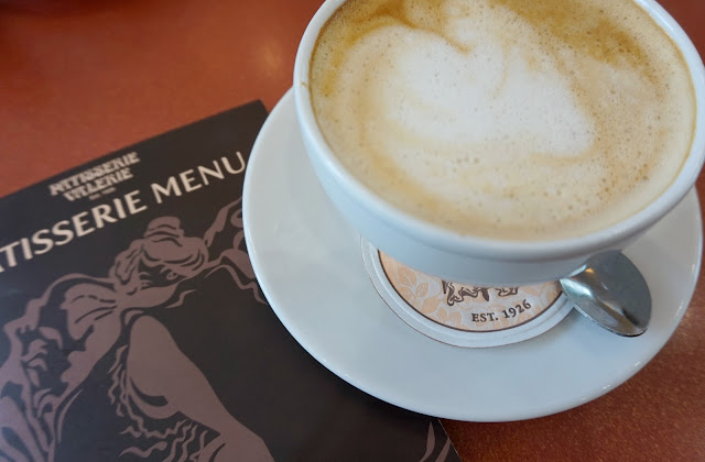 cup of coffee from patisserie valerie