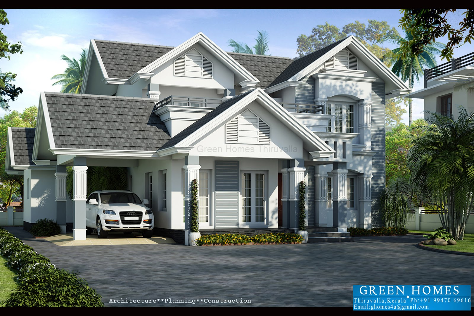 ordinary european style home designs #6: Green Homes European Style Beautiful Villa