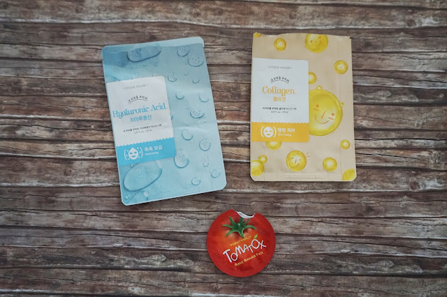 Etude House I Need Yous Mask Hyaluronic Acid Collagen, Tonymoly Tomatox