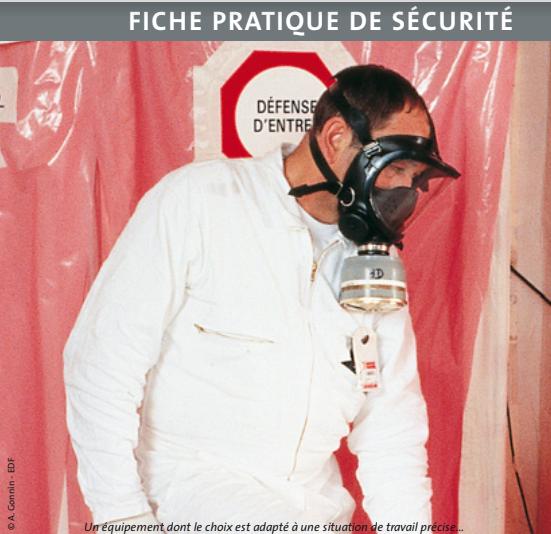 Les appareils de protection respiratoire
