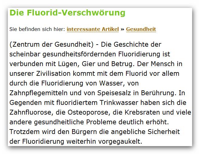 Fluorid Verschwörung