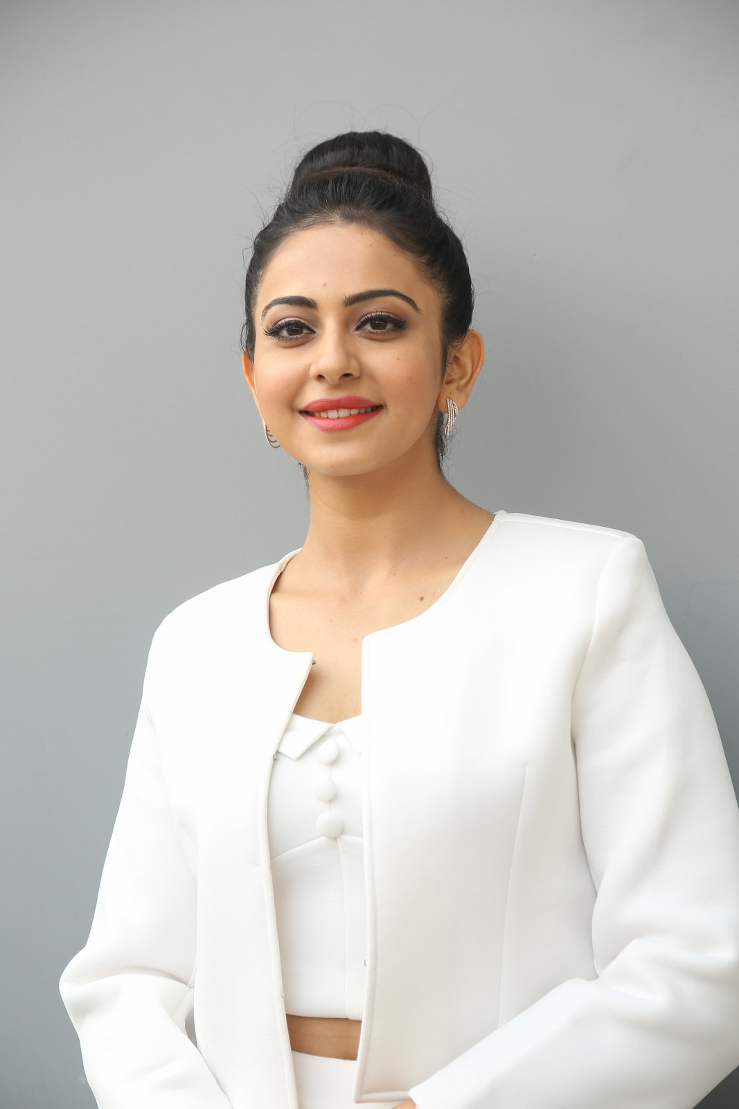 Rakul Preet Hot Photoshoot In White Dress