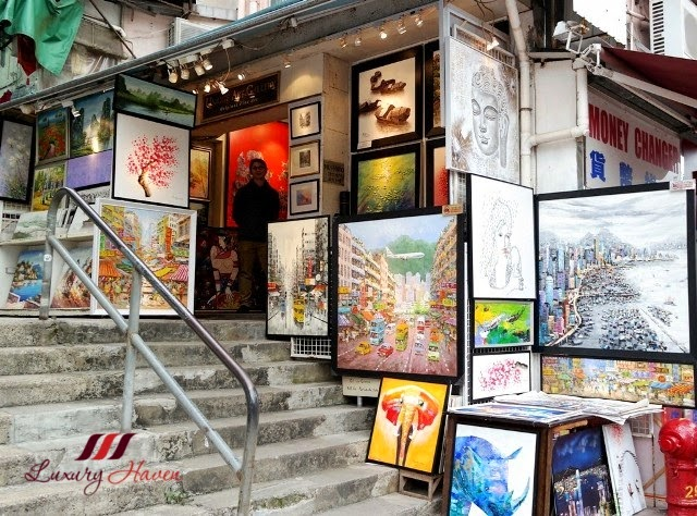 hong kong stanley market shopping art gallery paintings
