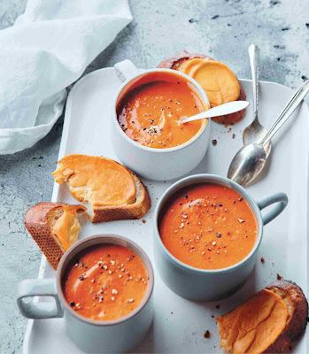 Vegan Instant Pot: Tomato Soup with Welsh Rarebit Toasties Recipe