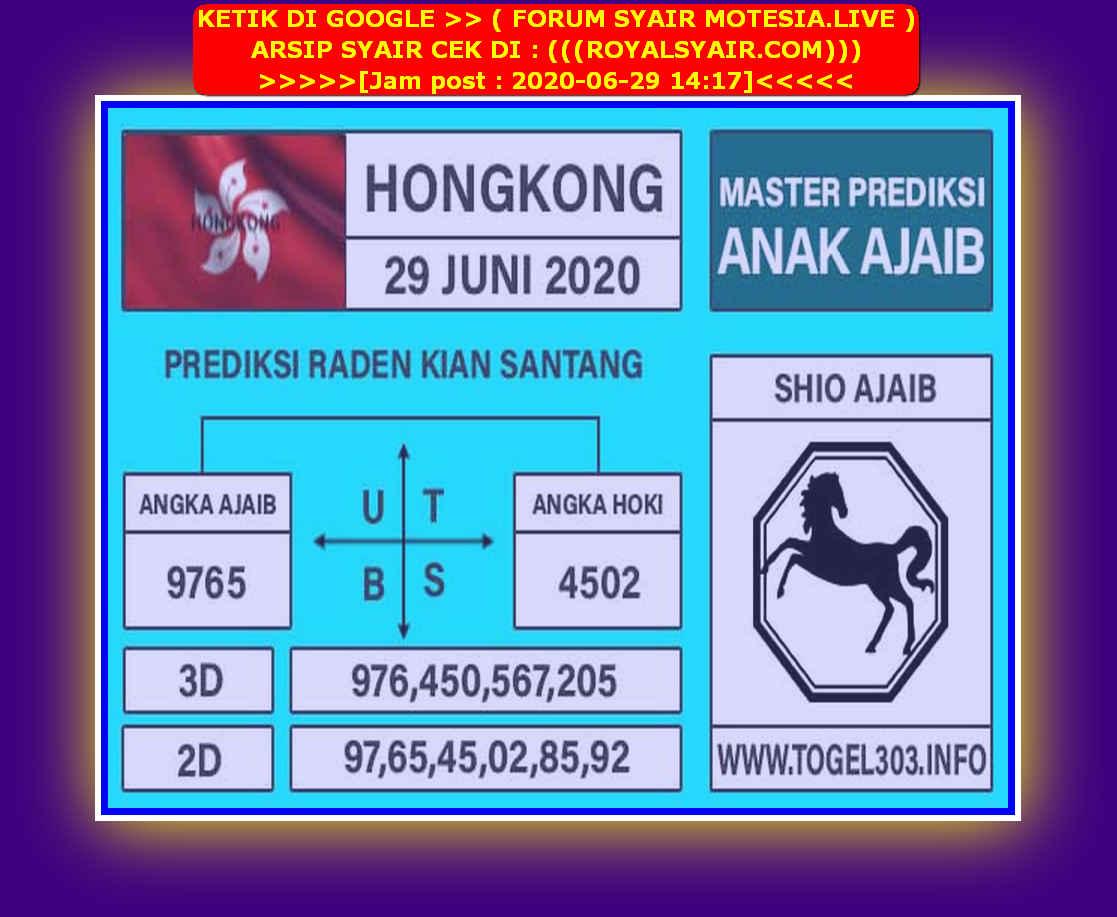 Kode syair Hongkong Senin 29 Juni 2020 184