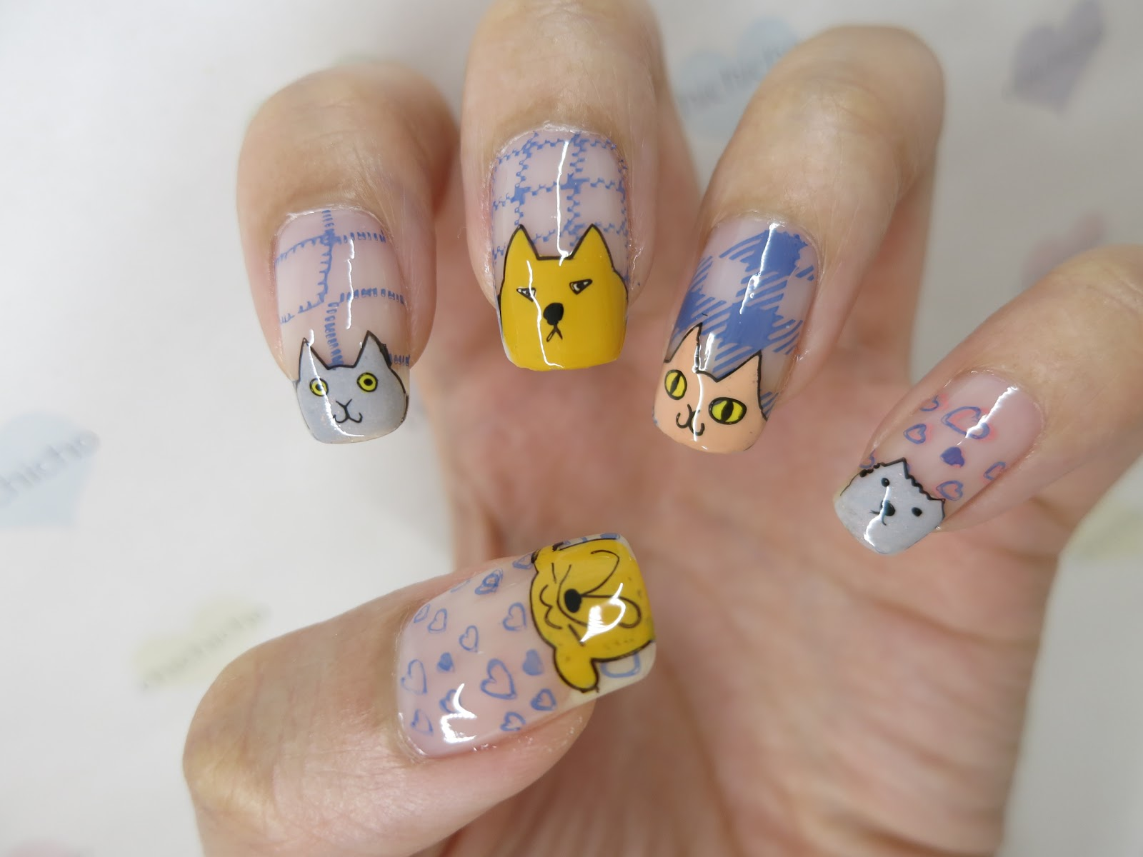 Cats and Dogs Nail Art with Image Plate 春の歌-20 - chichicho~
