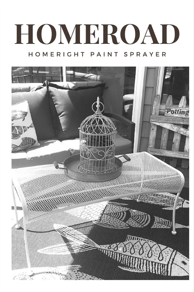 Using a Paint Sprayer on Outdoor Furniture www.homeroad.net