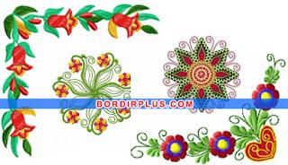motif bunga bordir keren