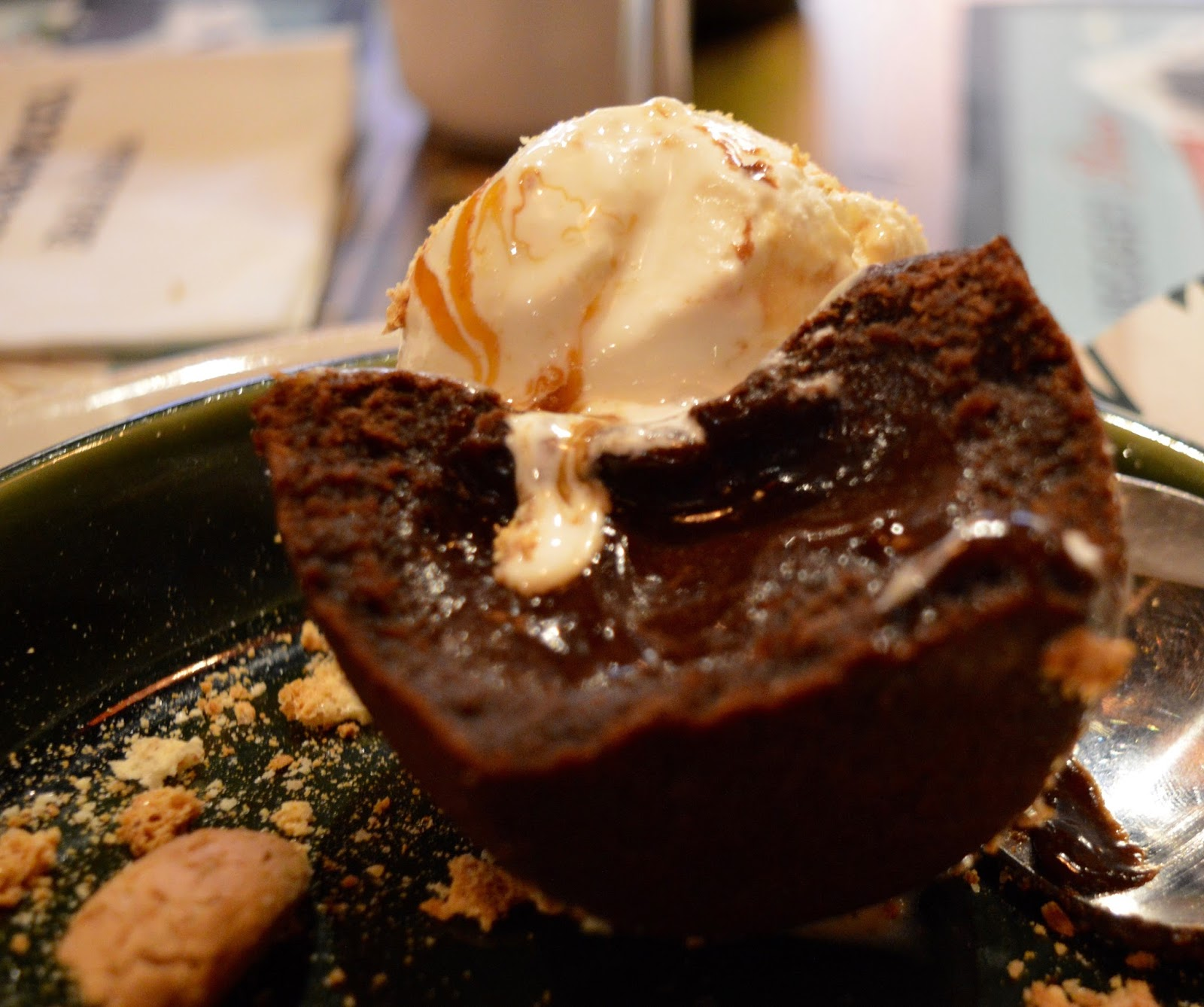 Bella Italia at intu Eldon Square Newcastle | Children's Menu Review - Christmas menu chocolate orange fondant