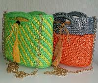 新!バージョンのスリーウェイお出かけファッションバッグ,crochet bag of PE tape,fashion items,すずらんテープの鈎編みバッグ,ファッションアイテム,PE塑料带的钩针编织包包,服饰流行