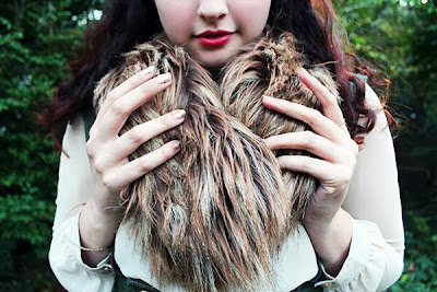 Faux fur close up from my classic lolita outfit
