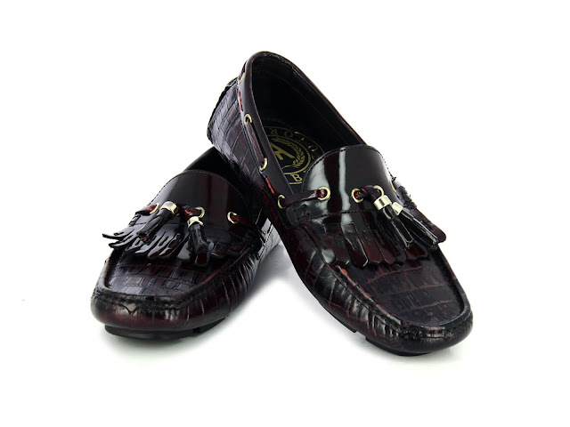 Alberto Torresi Brown+Burgundy Shoes