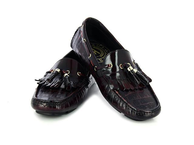 Alberto Torresi Brown+Burgundy Shoes