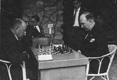 Spielmann-Golmayo en el I Torneo Internacional de Ajedrez de Sitges 1934