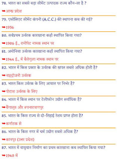 industry questions in hindi