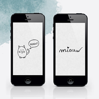 FREE MINIMAL CAT WALLPAPERS